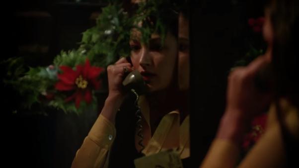 Black Christmas mirror phone